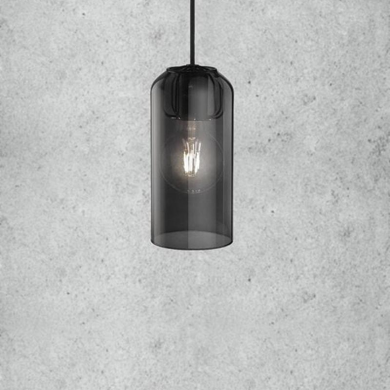 lampenkap van gerookt glas voor hanglamp kopen? Ø14cm