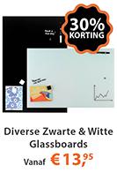 Diverse Zwart & Witte Glassboards