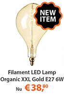 filament led lamp organic xxl