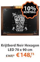 Krijtbord Noir Hexagon LED