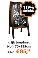 krijtstoepbord noir 70x135cm