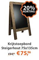 krijtstoepborden steigerhout 75x135cm