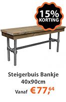 Steigerbuis Bankje 40x90cm