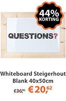 whiteboard steigerhout blank 40x50cm