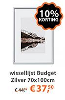 wissellijst budget zilver 70x100cm